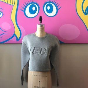 H&M x Alexander Wang Gray Cropped Sweatshirt NWT